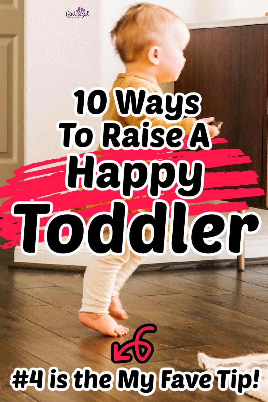 happy toddler walking on floor