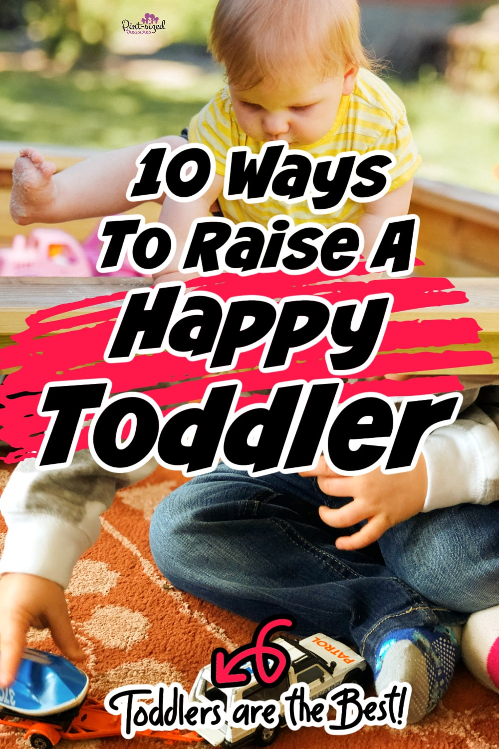 happy toddlers playing