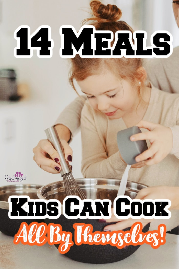 a child cooking with her mom and making an easy meal