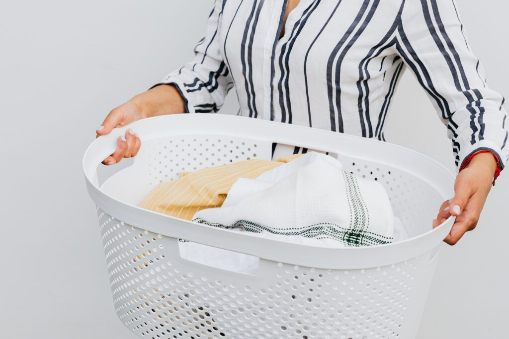 laundry basket for baby shower game