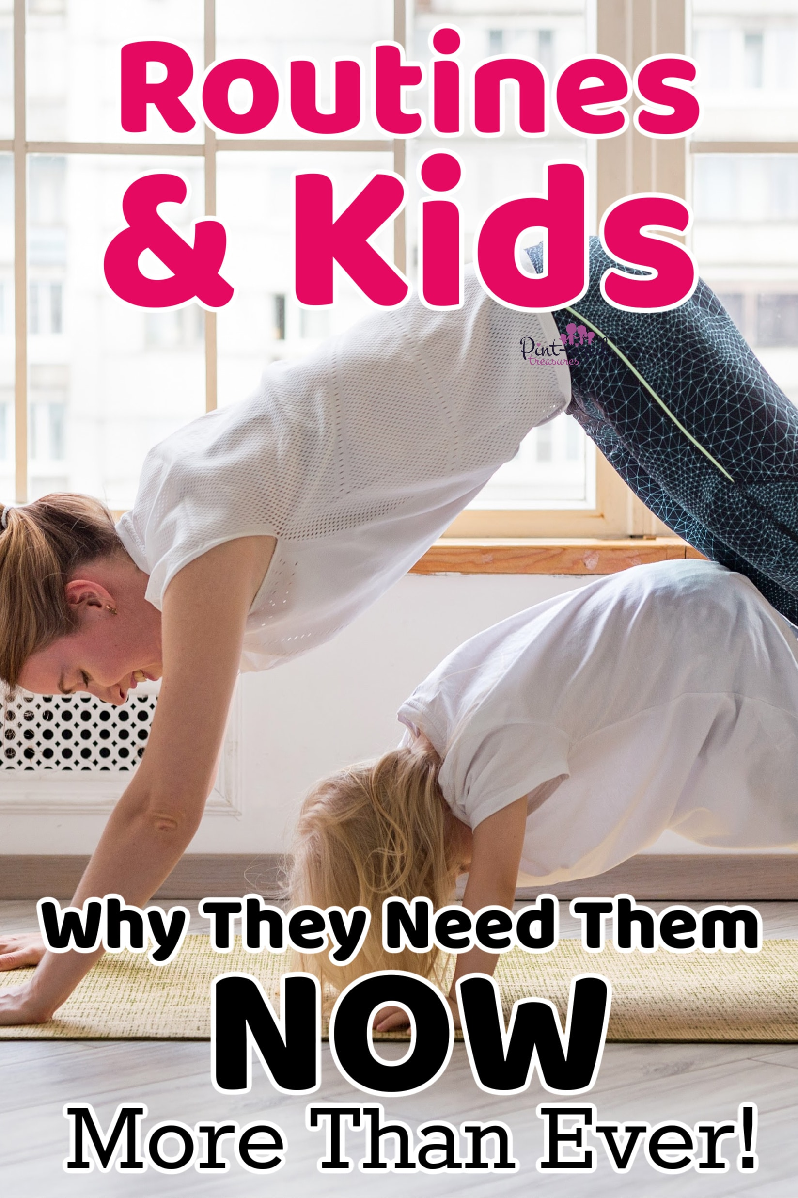 kids doing routines with mom