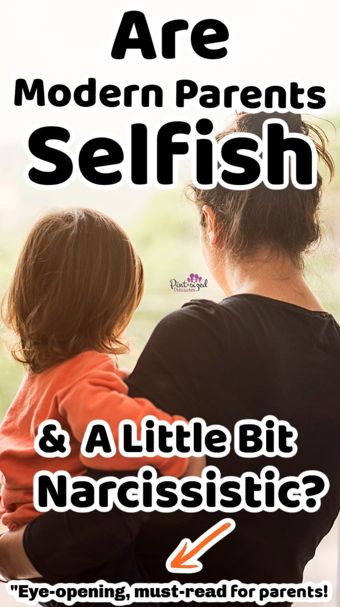 mother holding daughter while thinking about selfish parents