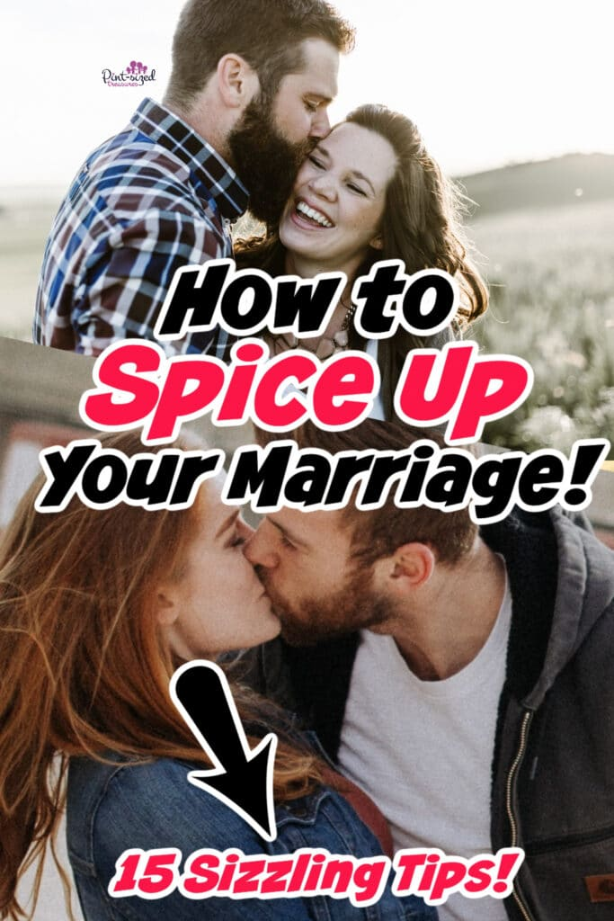 couple laughing together and trying to spice up marriage