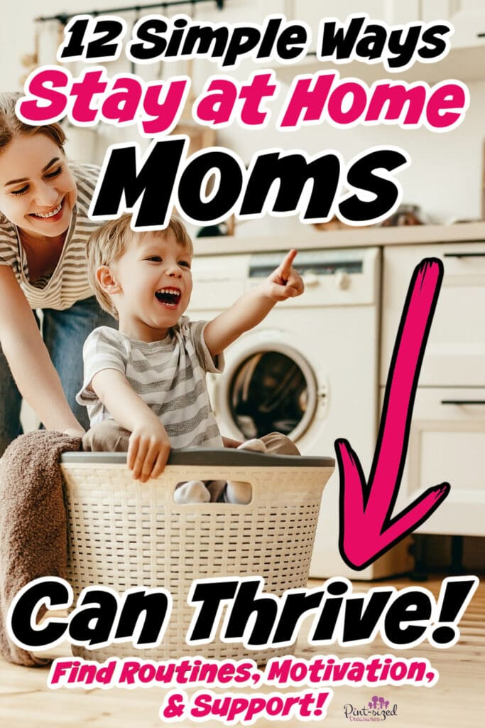 stay at home mom with son thriving at home