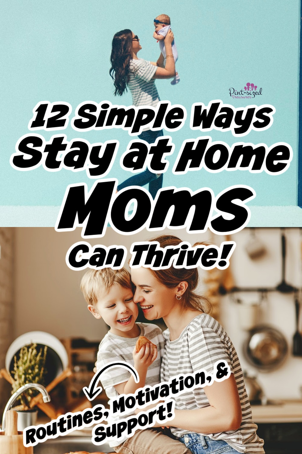 stay at home mom with child thriving at home