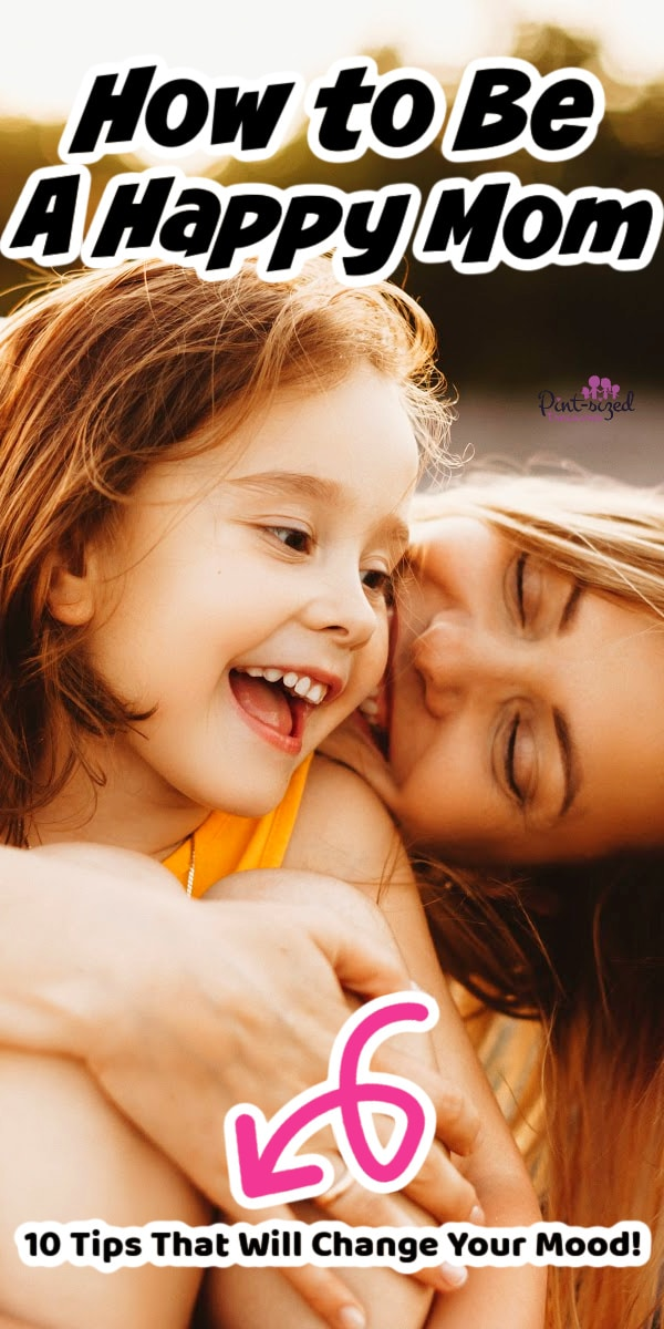 happy mom laughing with child