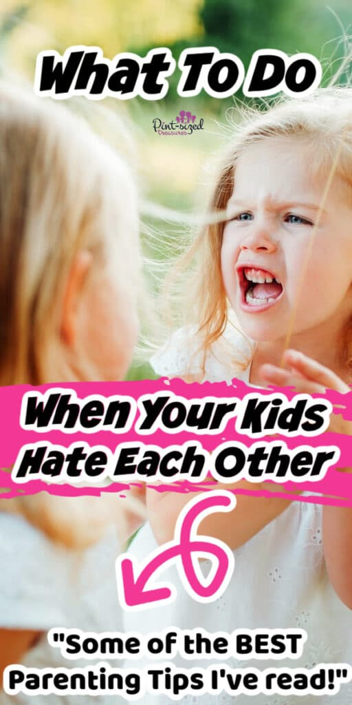 how to help kids who hate each other