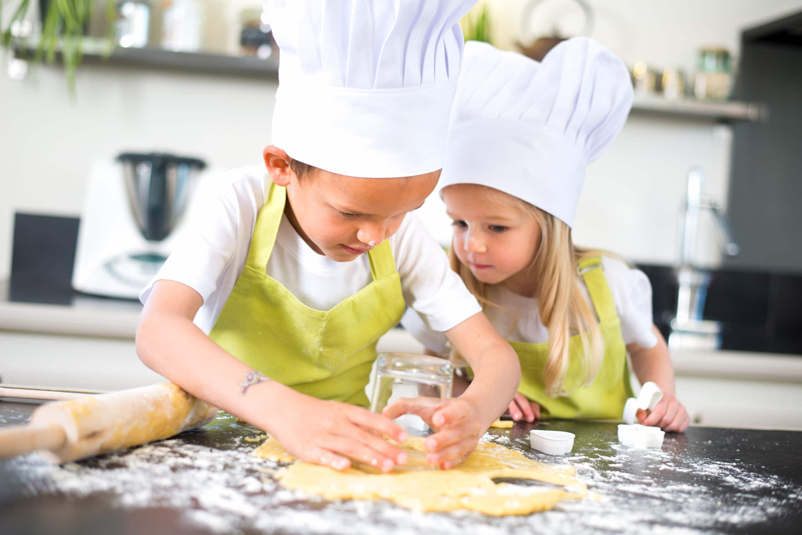 kids baking for a rainy day activity
