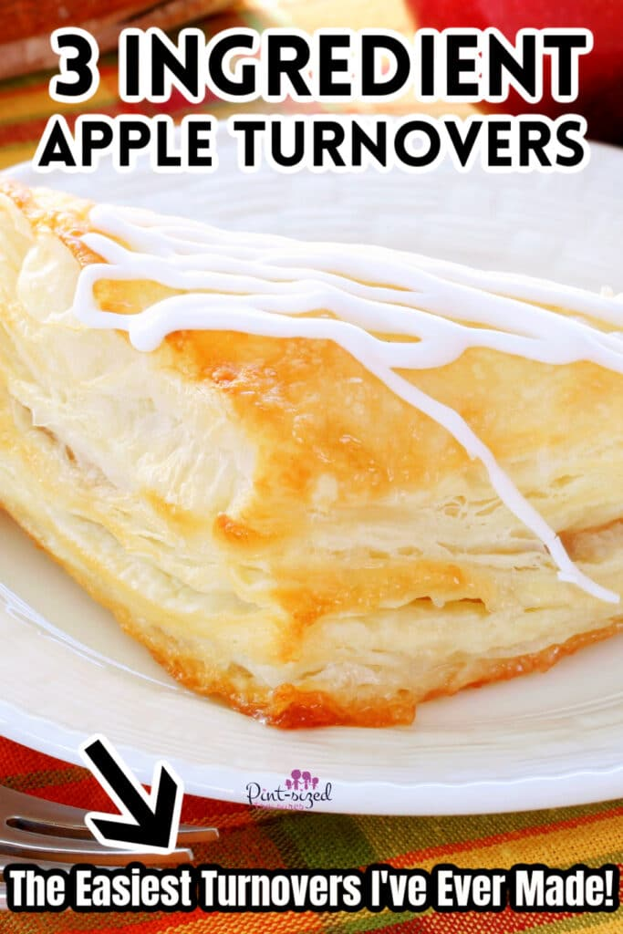 apple turnovers on white plate