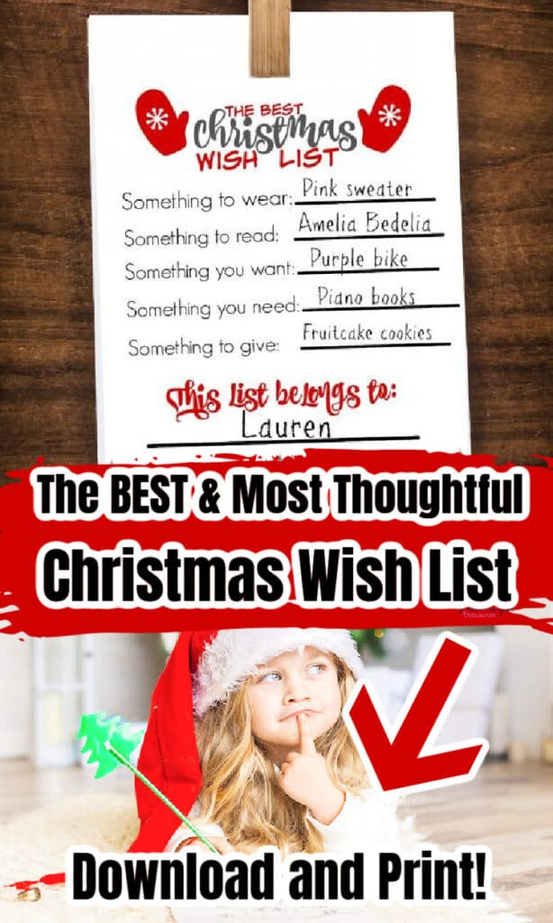 the best Christmas wish list for kids