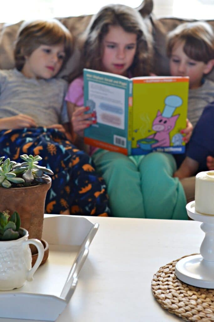reading with kids for a free kids activity