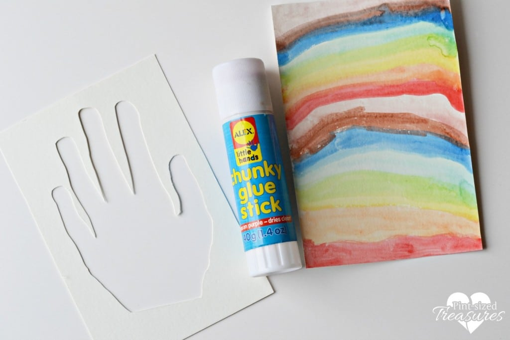 making hand silhouettes as a kids activity
