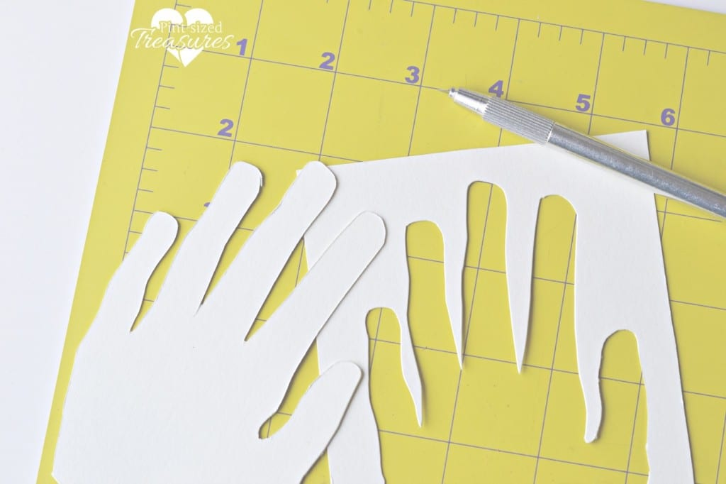 tracing hands for a rainy day activity