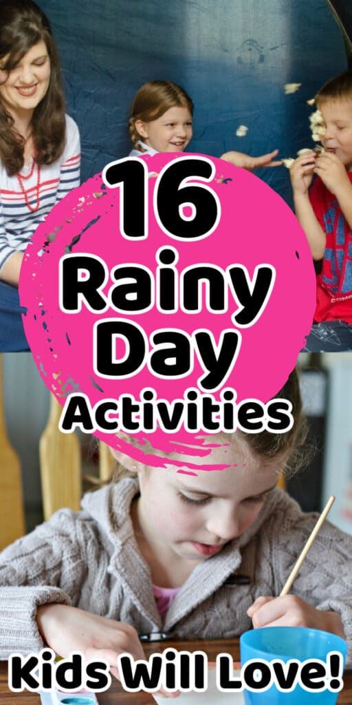family doing rainy day activities together