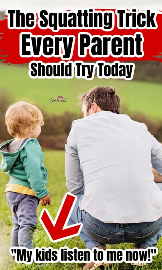 squatting tip for parents
