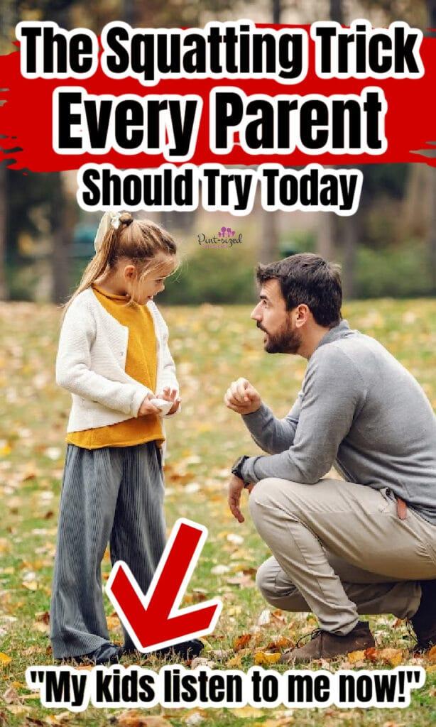 squatting trick for parents