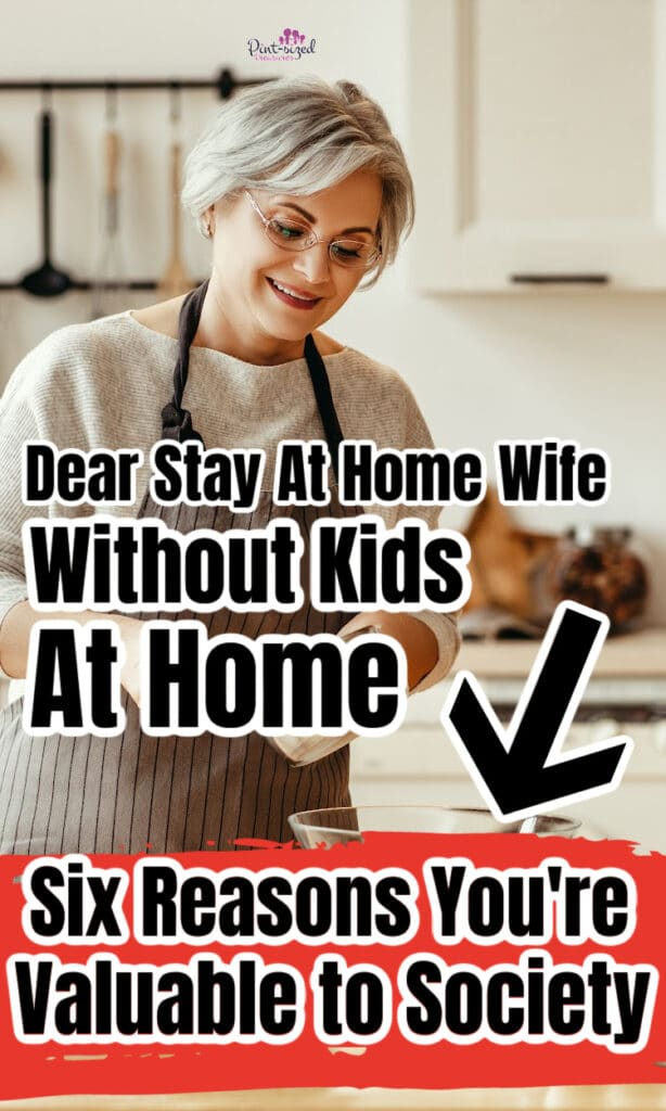 six reasons why the stay at home wife without kids at home is valuable