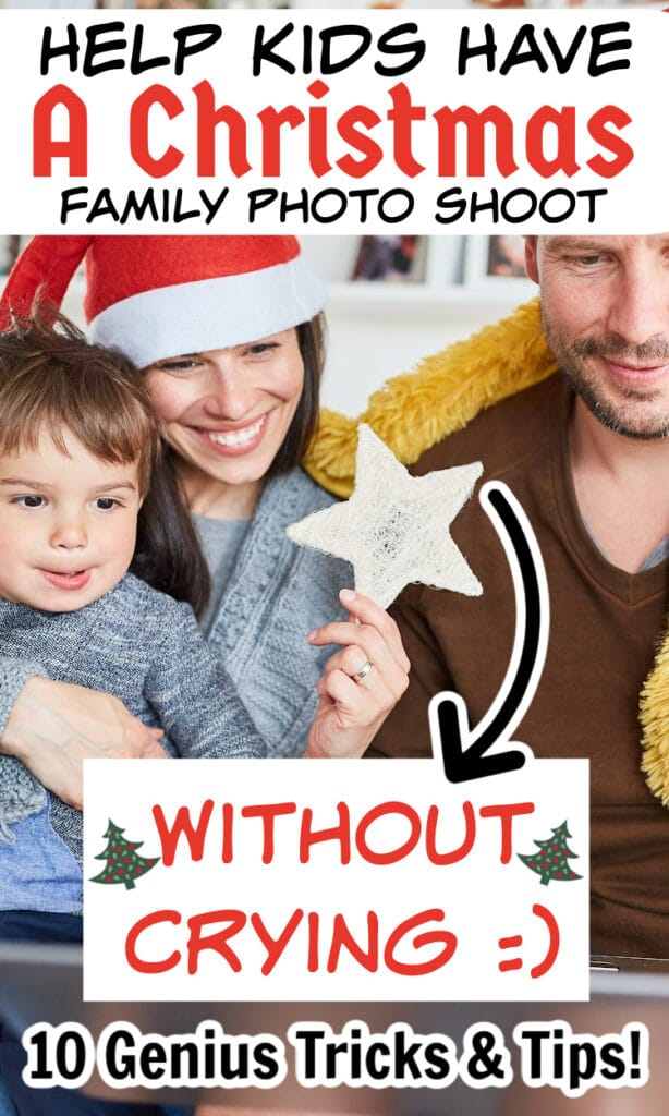 how to take family Christmas photos with kids