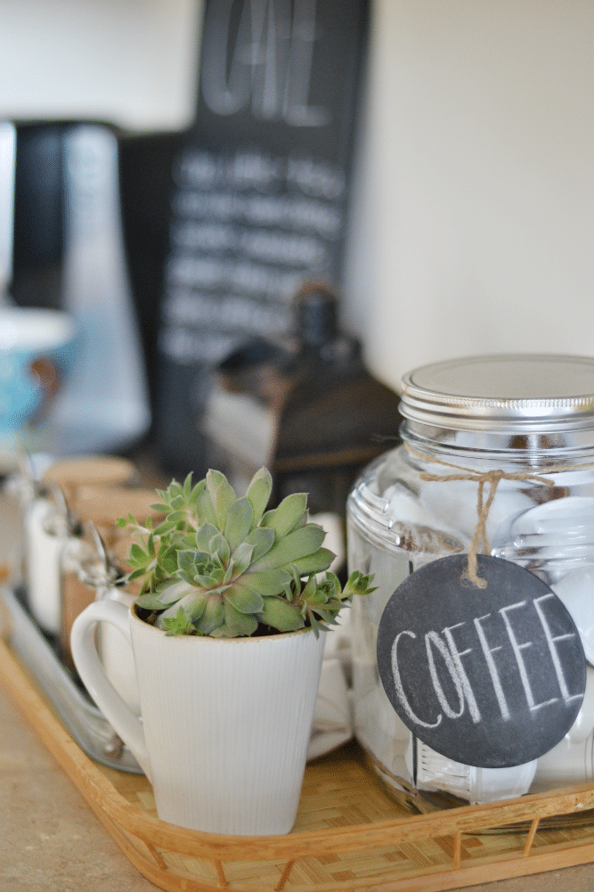 making specialty coffee at home to save money while living on one income