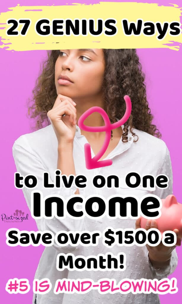 woman thinking about how to save money while living on one income